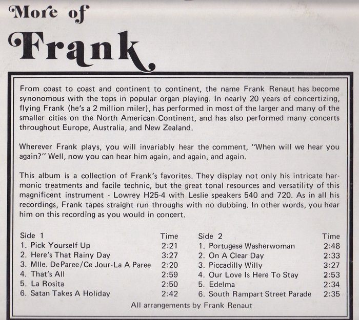 More of Frank by Frank Renaut 3