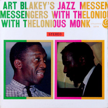 <cite>Art Blakey's Jazz Messengers With Thelonious Monk </cite>album art