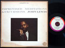 John Lewis – <cite>Improvised Meditations &amp; Excursions</cite> album art