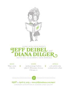 A book themed wedding & website