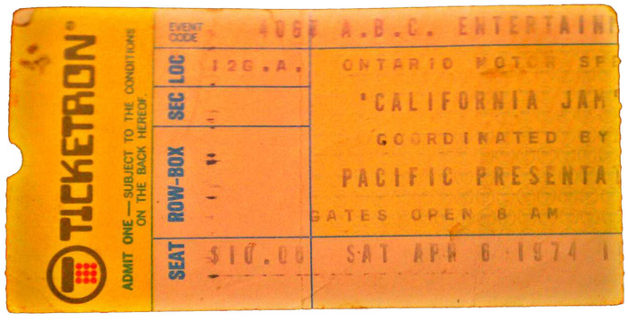California Jam festival, Ontario, CA, Apr.6,1974.