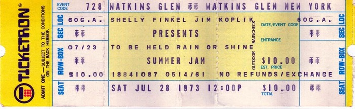 Watkins Glen Summer Jam, New York, Jun. 28, 1973.