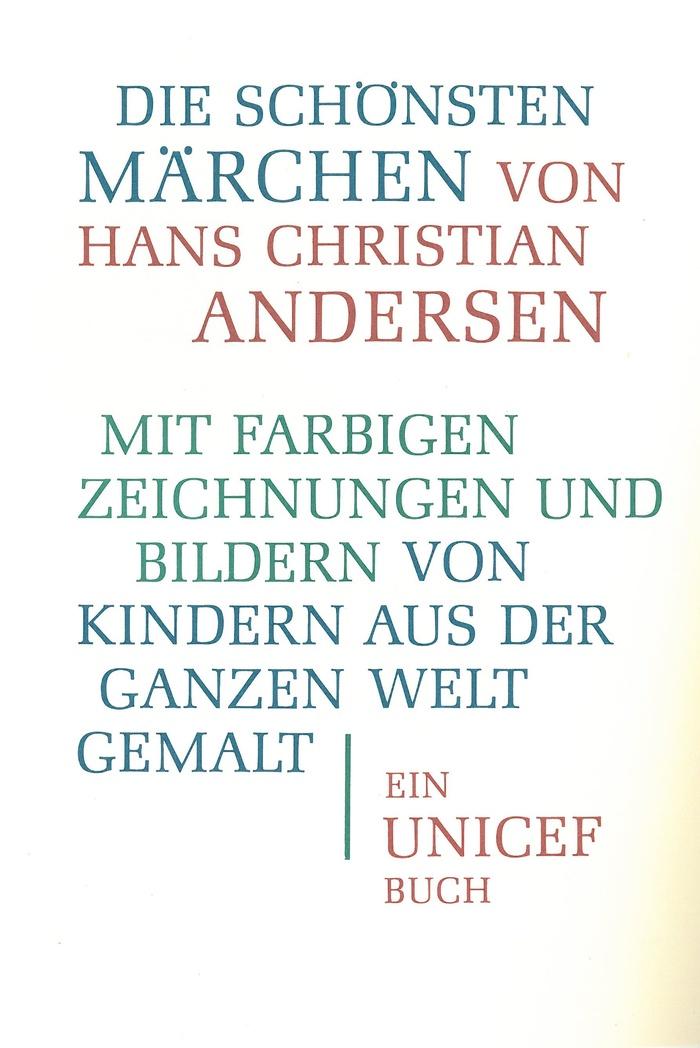 Die schönsten Märchen von Hans Christian Andersen, Unicef edition