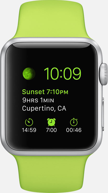 Apple Watch OS (watchOS) - Fonts In Use