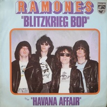 "Ramones – ""Blitzkrieg Bop"" / ""Havana Affair"" French single cover"