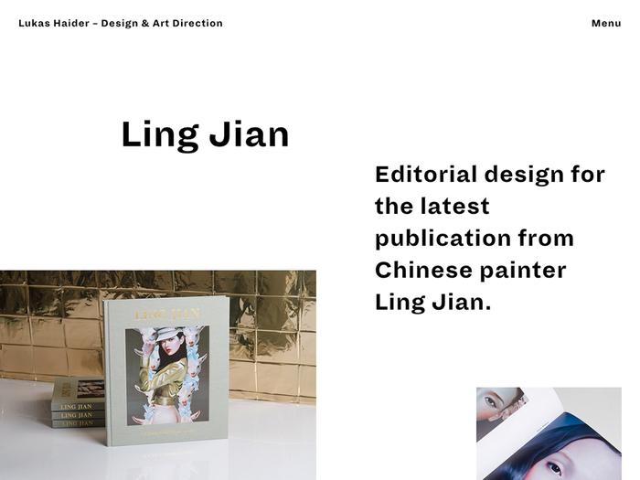 Lukas Haider Design & Art Direction website 1