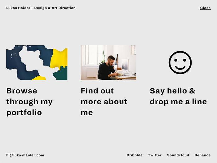 Lukas Haider Design & Art Direction website 2