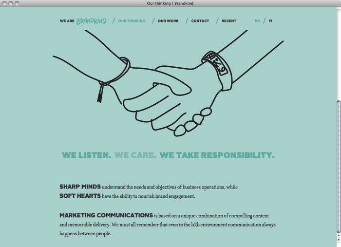 Brandkind website 1