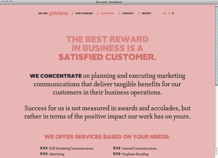 Brandkind website 2