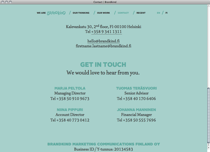 Brandkind website 4