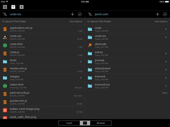 Coda for iOS 2.0 app 1