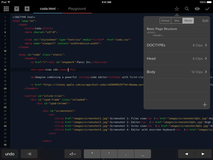 Coda for iOS 2.0 app 3