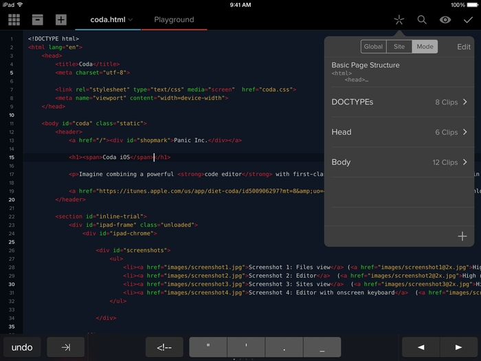 Coda for iOS 2.0 app 3