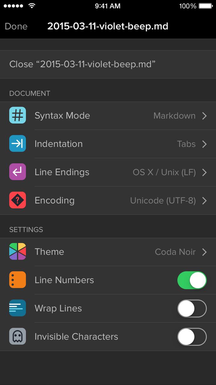 Coda for iOS 2.0 app 6