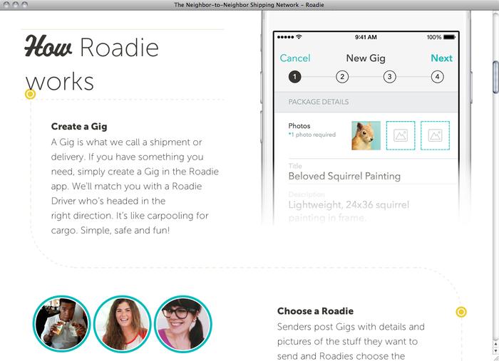 Roadie website 2