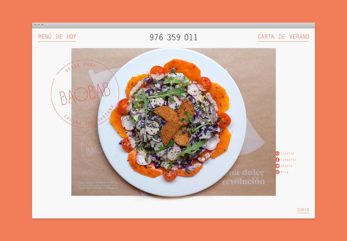 Baobab restaurant branding 10