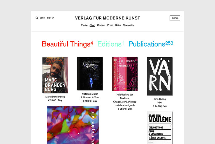 Verlag für moderne Kunst website 3