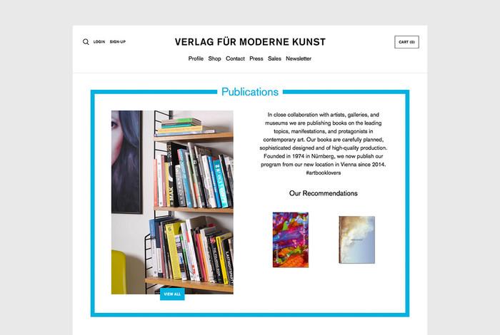 Verlag für moderne Kunst website 4