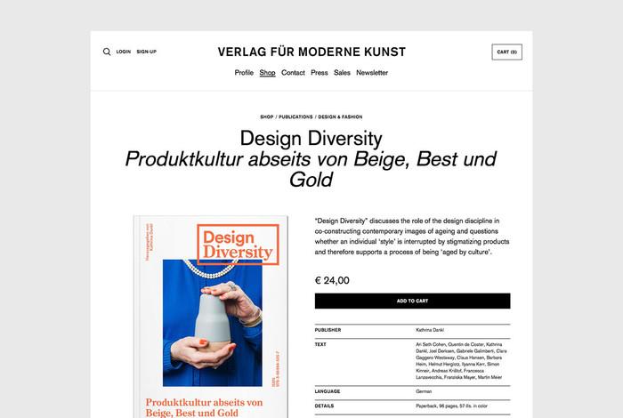 Verlag für moderne Kunst website 5