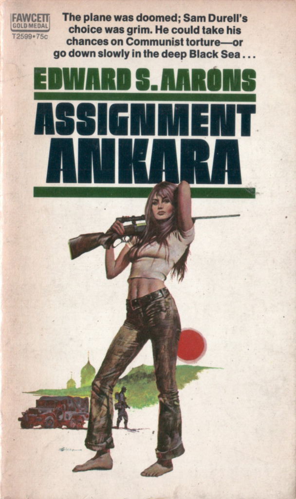 Edward S. Aarons paperback covers, Fawcett Gold Medal editions, 1969–72 13