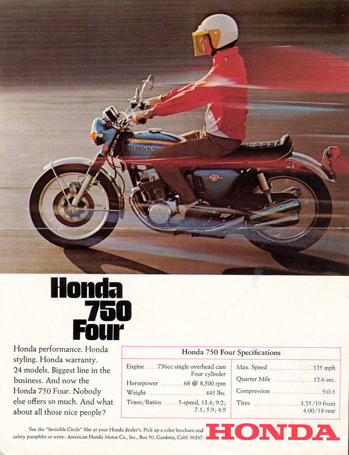 Honda 750 Four brochure 1