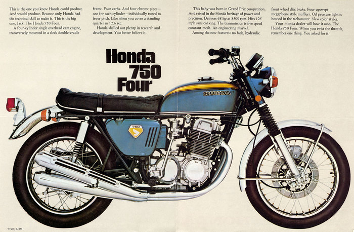 Honda 750 Four brochure 2