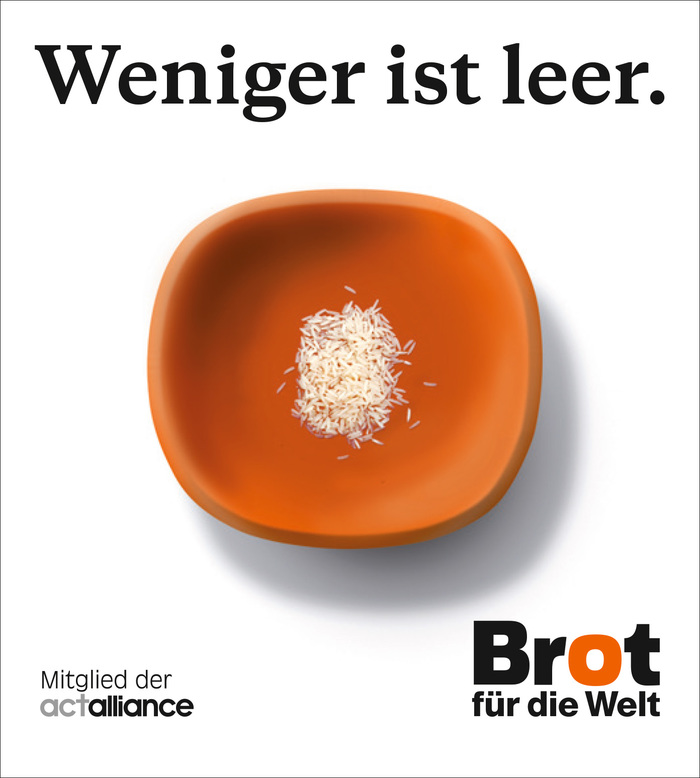 """Ad """"Weniger ist leer"""" (Less is empty)"""