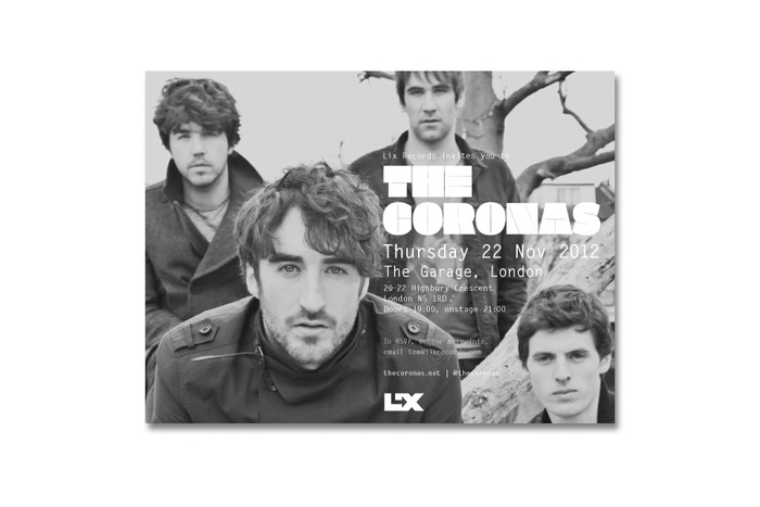 The Coronas Closer to You tour flyers 3