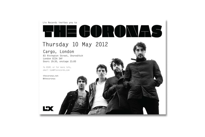The Coronas Closer to You tour flyers 1