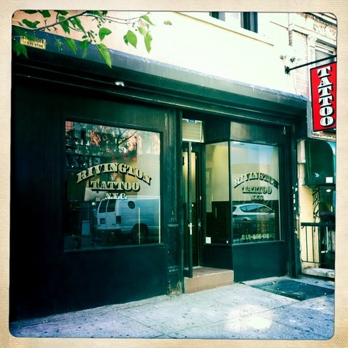 Rivington Tattoo is on 175 Rivington Street, New York (see on Google Street View).