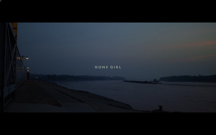 Gone Girl opening titles 1