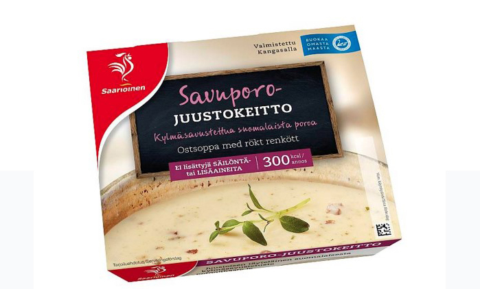 Even in Finland somewhat exotic: Smoked reindeer meat–cheese soup.
