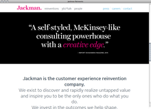 <cite>Jackman Reinvents</cite> website