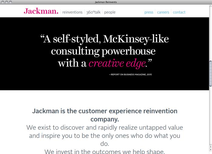 Jackman Reinvents website 1