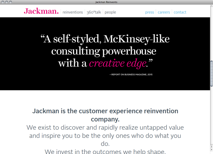 Jackman Reinvents website 1
