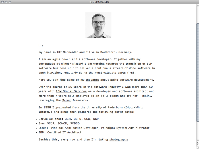 Ulf Schneider website 2
