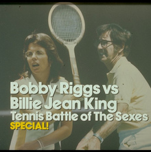 <cite>ABC Sports Special: Tennis Battle of The Sexes: Bobby Riggs vs Billie Jean King</cite> TV title card
