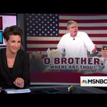 """O Brother, Where Art Thou?"" graphic on <cite>The Rachel Maddow Show</cite>"