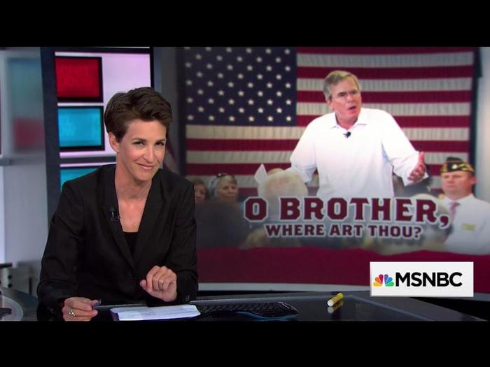 """O Brother, Where Art Thou?"" graphic on The Rachel Maddow Show"