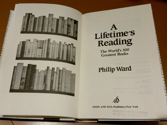 A Lifetime's Reading by Philip Ward 2