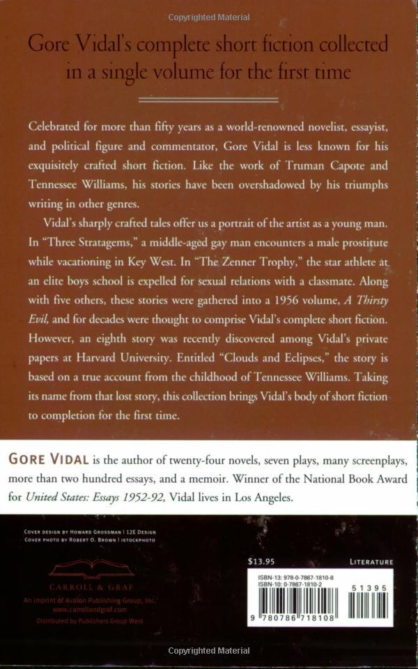 Clouds and Eclipses: The Collected Short Stories of Gore Vidal 2