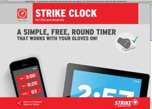 <cite>Strike Clock</cite> website
