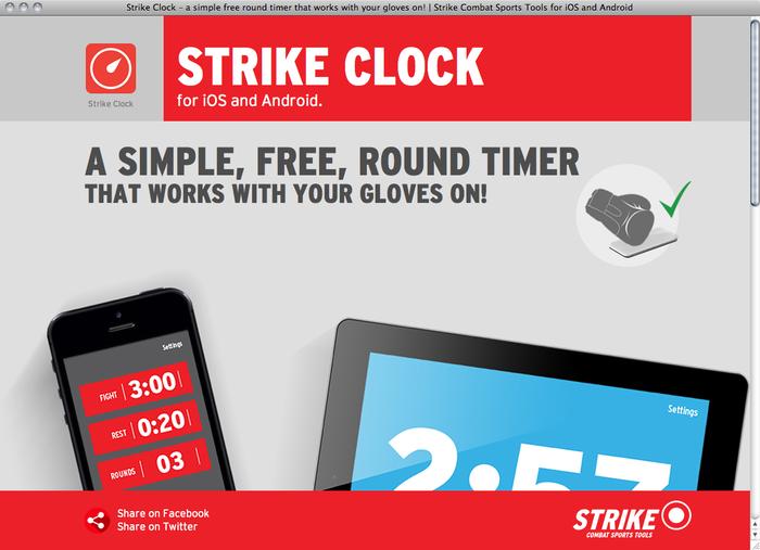 Strike Clock website 1