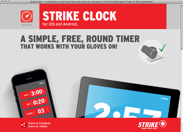 Strike Clock website 1