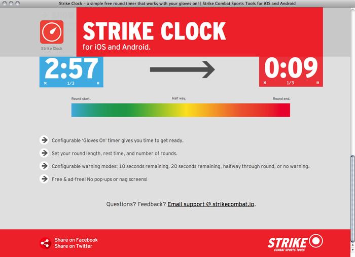Strike Clock website 3
