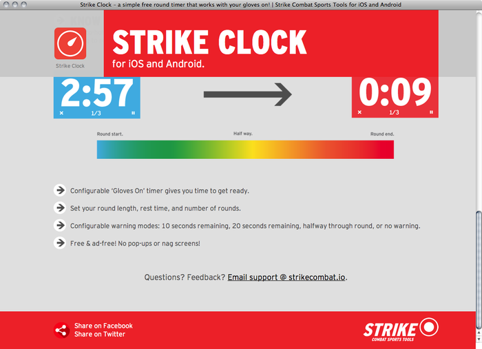Strike Clock website 3