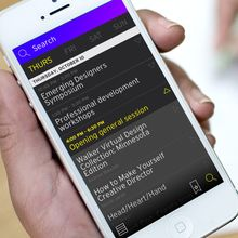 <cite>Head, Heart & Hand:</cite> AIGA Design Conference app