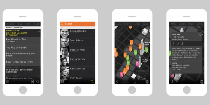 Head, Heart & Hand: AIGA Design Conference app 3