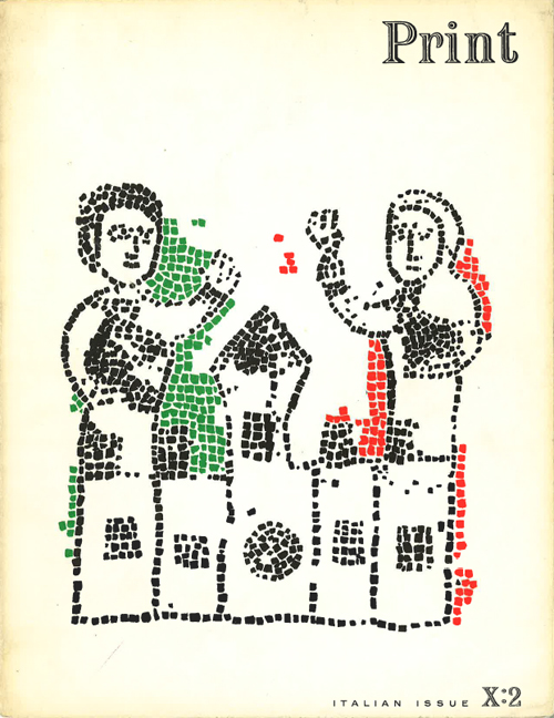 "Print X:2 ""Italian Issue"" (1956). Cover by Leo Lionni"