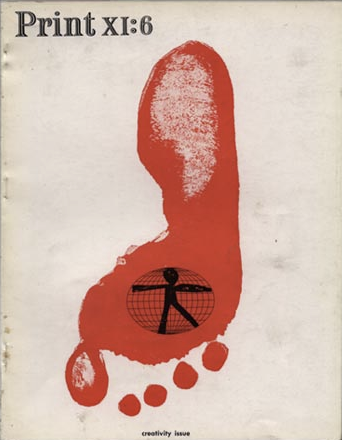 Print XI:6 (1957). Cover by Saul Bass